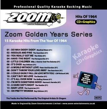 Zoom Karaoké Golden Years 1964 (CD+G)