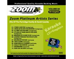 Zoom Karaoké Platinum Artists: Partridge Family & David Cassidy (CD+G)