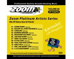 Zoom Karaoké Platinum Artists: Status Quo & Whitesnake (CD+G)