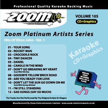 Zoom Karaoké Platinum Artists: Elton John Vol.1 (CD+G)